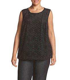 Kasper ® Plus Size Burnout Print Cami