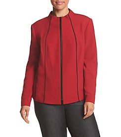 Kasper ® Plus Size Piped Stretch Jacket