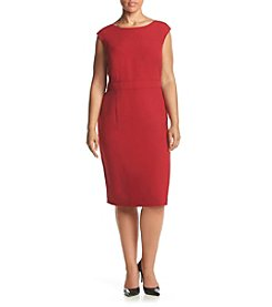Kasper® Plus Size Solid Stretch Sheath Dress