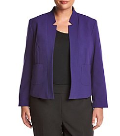 Nine West® Plus Size Two Pocket Stretch Crepe Jacket