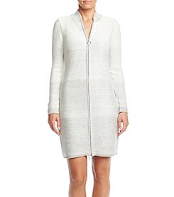 Calvin Klein Zip Front Sweater Dress