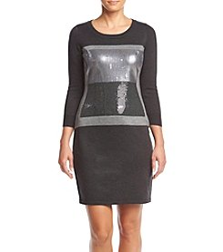 Calvin Klein Decorated Front Sweater Dress