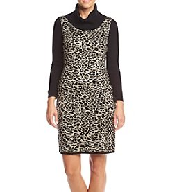 Calvin Klein Printed Sweater Dress