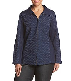 Alfred Dunner® Plus Size Sierra Madre Heat Set Jacket
