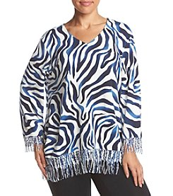 Alfred Dunner® Plus Size Sierra Madre Printed Sweater