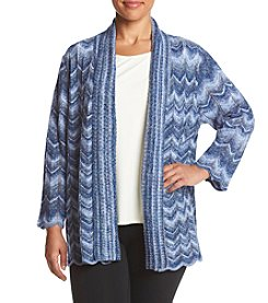Alfred Dunner® Plus Size Sierra Madre Space Dye Cardigan