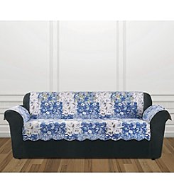 Sure Fit® Heirloom Bluebell Floral Chair Furniture Cover