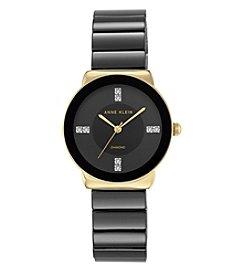 Anne Klein® Black Ceramic Diamond Dial Watch