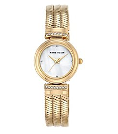 Anne Klein® Goldtone Snake Chain Bracelet Watch