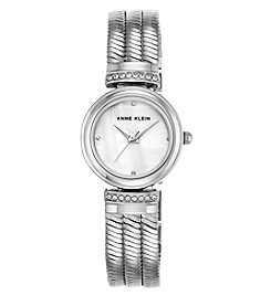 Anne Klein® Silvertone Snake Chain Bracelet Watch