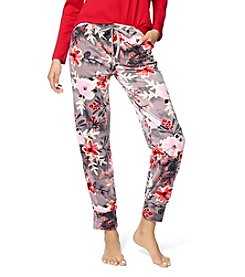 HUE® Printed Velour Pajama Pants
