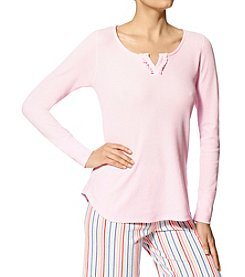 HUE® Waffle Knit Pajama Shirt
