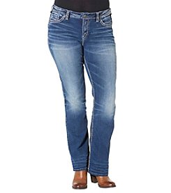 Silver Jeans Co. Plus Size Suki High Rise Medium Wash Bootcut Jeans