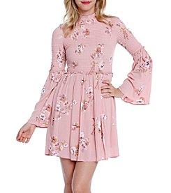 Skylar & Jade™ Long Sleeve Floral Smocked Dress