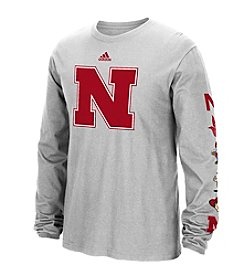 adidas® NCAA® Nebraska Cornhuskers Men's Vault Evolution Long Sleeve Tee