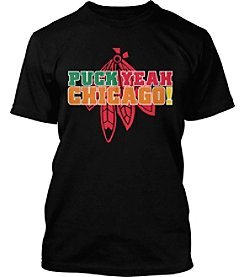 Drink Wisconsinbly® NHL® Chicago Blackhawks Men's Puck Yeah Short Sleeve Tee