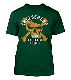 Green and Gold Cheesehead To The Bone Men's Short Sleeve Tee