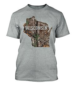 Top Promotions Camo Wisconsin Men's Short Sleeve Tee