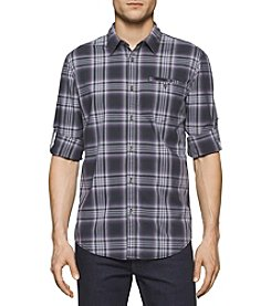 Calvin Klein Jeans® Men's Vintage Violet Check Long Sleeve Button Down Shirt