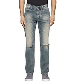 Calvin Klein Jeans® Men's Slim Straight Fatigue Tint Jeans