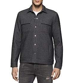 Calvin Klein Jeans® Men's Bonded Black Knit Trucker Jacket