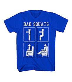 Mad Engine Men's Big & Tall Short Sleeve Dad Squats Tee