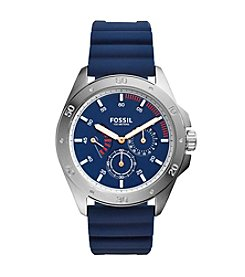 Fossil® Sport Multifunction Blue Silicone Watch