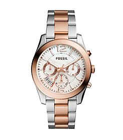 Fossil® Perfect Boyfriend Sport Multifunction Two Tone Stainless Steel Watch