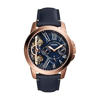 Fossil® Grant Twist Three Hand Leather Watch