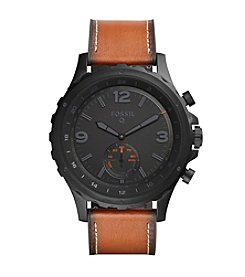 Fossil® Q Nate Leather Hybrid Smartwatch