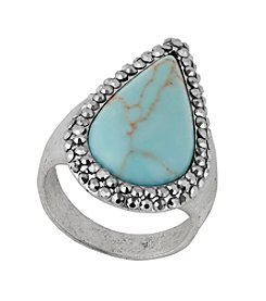 Lucky Brand® Turquoise and Pave Ring
