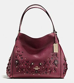 COACH WILLOW FLORAL EDIE SHOULDER BAG 31 IN PEBBLE LEATHER
