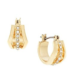 Jessica Simpson Goldtone Huggie Earrings