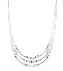 Nine West® Three Row Frontal Necklace