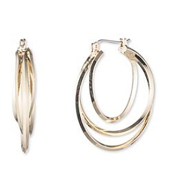 Nine West® Twisted Click Top Hoop Earrings