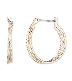 Nine West® Medium Click Top Hoop Earrings