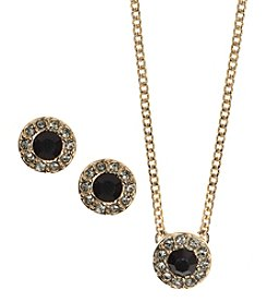Givenchy® Pendant Necklace and Stud Earrings Set