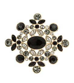 Givenchy® Jet Stone Cluster Pin