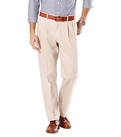 Dockers® Men's Signature Stretch Khaki Pleated Classic Fit Pants