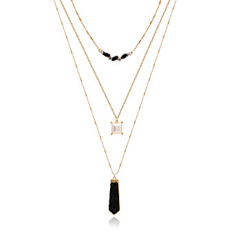 GUESS Layered Charm Necklace