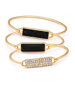 GUESS Three Piece Bangle Set