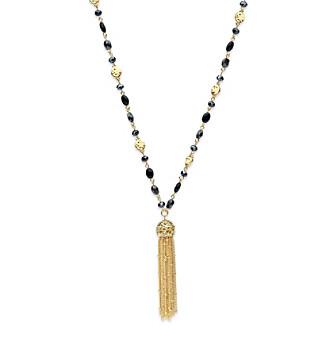 Nine West Vintage America Collection® 36 Inch Tassel Pendant Strand Necklace plus size,  plus size fashion plus size appare