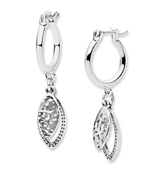 Nine West Vintage America Collection® Drop Off Hoop Earrings plus size,  plus size fashion plus size appare