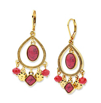 Nine West Vintage America Collection® Shaky Orbital Drop Earrings plus size,  plus size fashion plus size appare