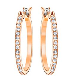 Swarovski® Fine Crystal Accented Hoop Earrings