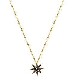 Swarovski® Black and Gold Firework Pendant Necklace