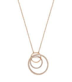 Swarovski® Rose Goldtone Pendant Necklace