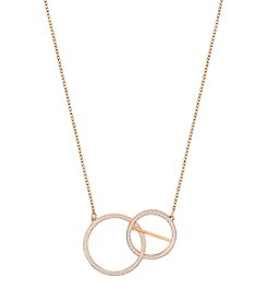 Swarovski® Rose Goldtone Pendant Necklace