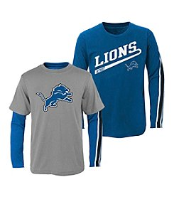 adidas® NFL® Detroit Lions Boys' 2T-4T Squad 2-For-1 Tee