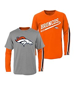 adidas NFL® Boys' 2T-4T Denver Broncos Squad 2-For-1 Tee